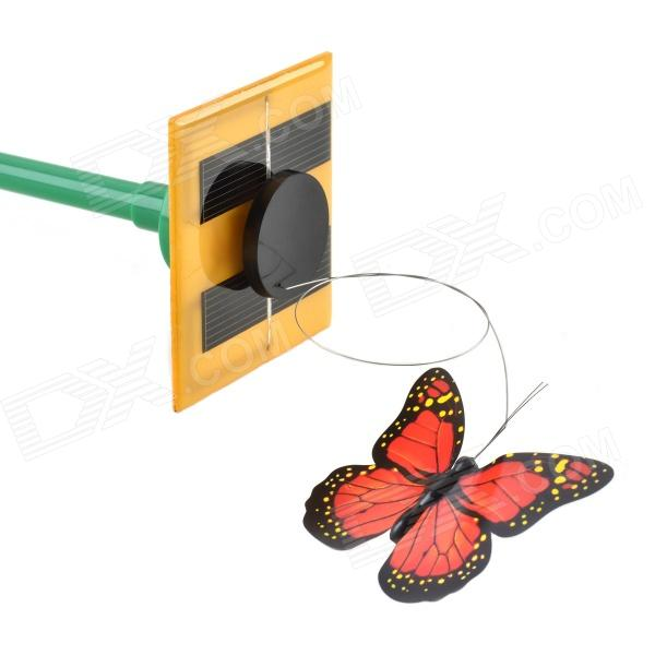 CHEERLINK Creative Solar DIY Educational Butterflies Toy - Red + Black + Yellow (3 PCS)