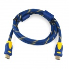 ENK-HH15 HDMI v1.4 to HDMI Cable for PS3 / Xbox360 / HD TV - Blue + Golden + Yellow (1.5m)