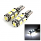 exLED T10 1.8W 144LM 9-SMD 5050 LED White Light Car Ausverkauf Lampe (12V / Paar)