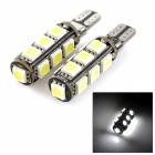 exLED T10 2.6W 208lm 13-SMD 5050 LED White Light Car Umrissleuchte (12V / Paar)