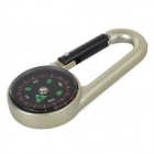 Mini Hanging Buckle Zinc Alloy Compass - Black + Champagne