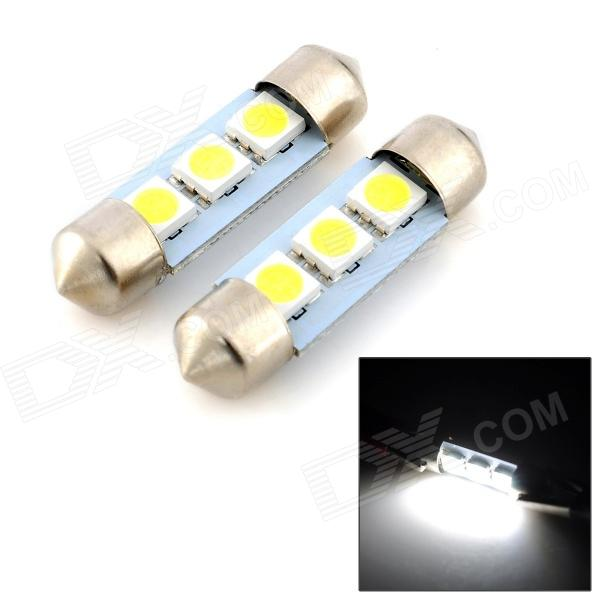 exLED 36mm 0.6W 6500K 54LM 3-5050SMD LED Reading Lamp/Boot Lamp White Light Bulb (12V / Pair)