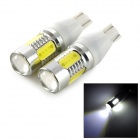 exLED T15 7.5W 500lm  6500K 5-LED White Light Backup / Turning Signal Light Bulbs (12V / Pair)