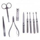 JDM CH-D3 9-in-1  Stainless Steel Nail Care Manicure Set - Silver