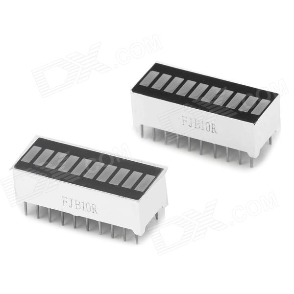 10-Segment Red Light LED Display Module - White + Black (2 PCS)DIY Parts &amp; Components<br>ModelNQuantity2Form  ColorWhiteMaterialLCDEnglish Manual / SpecYesPacking List2 x Digital tube<br>