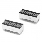 10-Segment Red Light LED Display Module - White + Black (2 PCS)