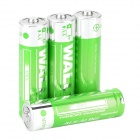 WALLY Convenient 1.5V Disposable LR6 AA Battery - Green + Silver (4 PCS)