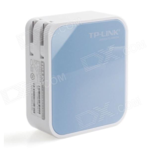 TP-LINK TL-WR800N Portable 300Mbps IEEE 802.3b/g/n Wi-Fi AP Wireless Router - White + Light Blue