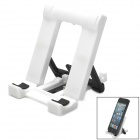 Universal 5-Level Adjustable Desktop Stand for Cell Phone - White + Black