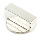 10050076W Rectangular Strong NdFeB Magnets - Silver (2 PCS)