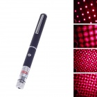 5mW 650nm Starry Sky Red Laser Pointer - Black + Silver (2 x AAA)