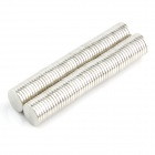 10050077W Round NdFeB Magnets - Silver (100 PCS)