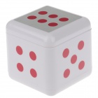 Plastic Dice Style Rotary Top Ashtray - Silver + Red + White
