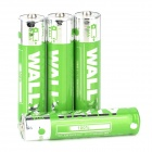 WALLY Convenient 1.5V Disposable LR03 AAA Battery - Green + Silver (4 PCS)