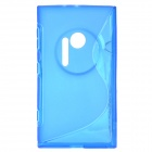 """S"" Style Protective TPU Back Case for Nokia Lumia 1020 - Translucent Blue"