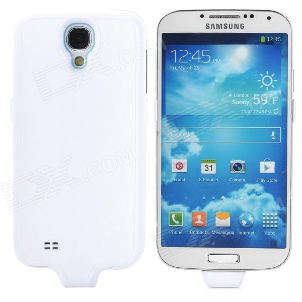Stilvolle 3200mAh Lithium-Ionen-Power Back Case für Samsung Galaxy GT-i9500 S4 - Weiß + Blau