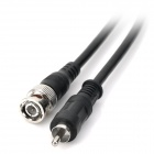 BNC macho para RCA Male Cable - Preto (200 cm)