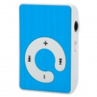 KD-MP3-31-LANSE Mini Portable TF Card MP3 Music Player w/ Clip - Blue + White (16GB Max.)