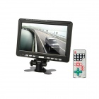 "9"" TFT LCD Digital Car Desktop Monitor w/ TV / AV / SD - Black"
