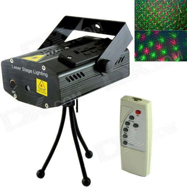 XL-M-D09 Stage Light Projector MP3 Player Speaker w/ USB / SD / Remote Controller / Tripod - Black