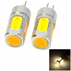 G4-5W-V-12V G4 5W 200lm 3500K 5-LED Warm White Car Clearance Lights (12V / 2 PCS)