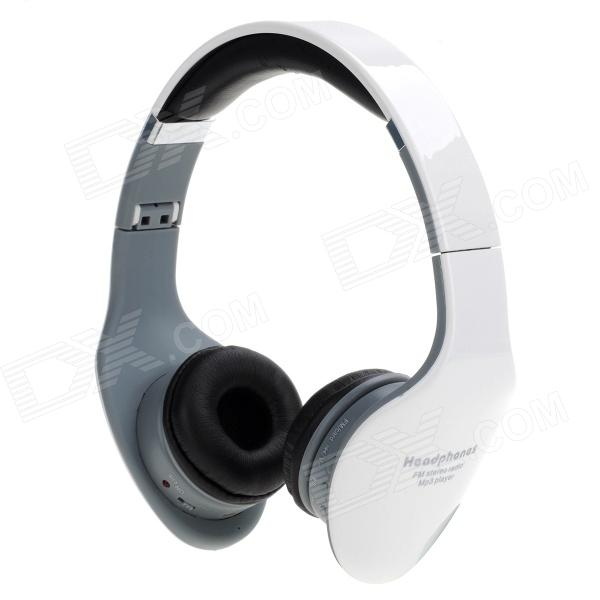 S1652901 Fashionable MP3 Player Wireless Headphones w/ TF - White + Grey + Black Jersey City Buy Sell