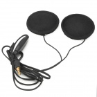 Motorcycle Helmet Headphones Headset for MP3 Player / GPS - Black (3.5mm Plug)