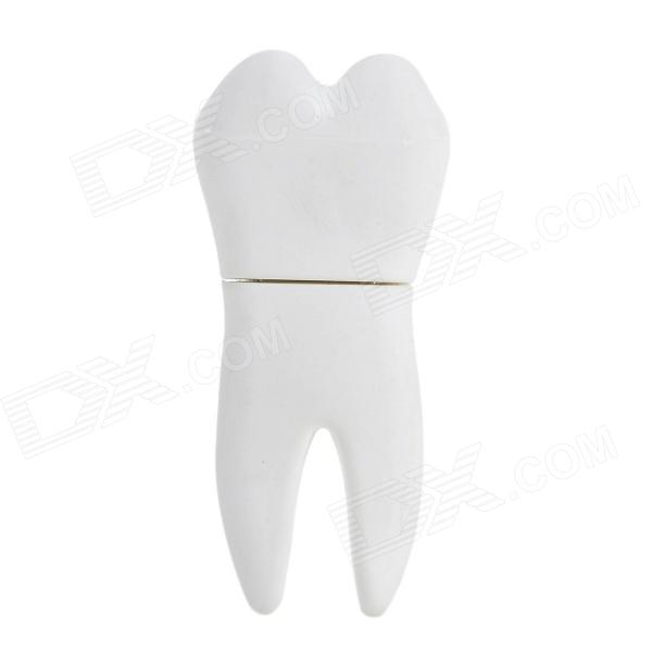 YC-01 Molar Tooth Shape USB 2.0 Flash Drive - White (8GB)