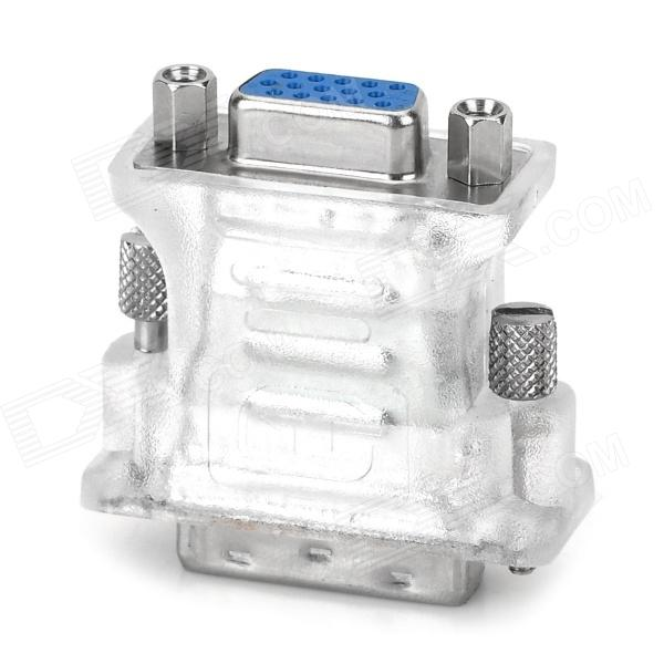 DVI24 + 5 Male to VGA Female Adapter - Translucent White + SilverComputer Cable &amp; Adapter<br>Quantity1Form  ColorWhiteMaterialPVCInterfaceVGATransmission Rate5Packing List1 x Adapter<br>