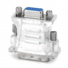 DVI24 + 5 Male to VGA Female Adapter - Translucent White + Silver