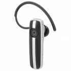 Stylish Hands-Free Bluetooth V3.0 Headset - Black + Silver White