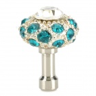 Cute Universal Crystal-inlaid Mushroom Adornment Anti-dust Plug for Cellphone - Silver + Blue