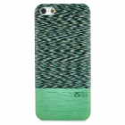 Stylish Wood Grain Back Case for Iphone 5 - Green