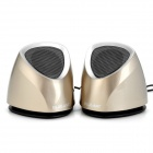 Blue-Ant s28 USB Powered Music Speakers - Champagne + Black (2 PCS / 3.5mm Plug)