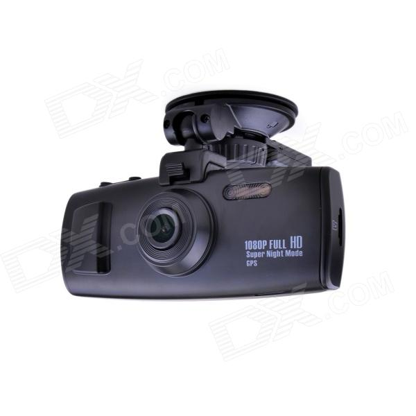 2.7 TFT 5.0 MP 1/3 CMOS 1080p HD 120' Wide Angle Car DVR Video Camcorder w/ GPS / 2-IR LED - Black g1wh 2 7 tft 3 0mp cmos full hd 1080p 140 degree wide angle car dvr w g sensor tf black