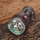 S1661501 2000lm 3-Mode Cool White Light Flashlight w/ 3 x CREE XM-L U2 - Deep Brown (4 x 18650)