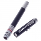 5mW 650nm de Ponto Único Red + White Light Laser Pointer - Preto + Silver (3 x LR41)
