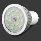 Lexing GU10 6W 470lm 7500K 15-SMD-5630 LED White Light Spotlight - Silver (110-240V)