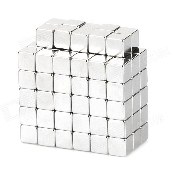 Cube Style NdFeB Magnet Pieces - Silver (4 x 4 x 4mm / 100 PCS)Magnets Gadgets<br>ModelNQuantity100MaterialNdFeBPacking List100 x Magnets<br>