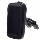 M07 Motorcycle Bicycle Water Resistant Holder / Stand for GPS / Iphone 4 / 4S - Black