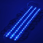 Rectangle Waterproof 14.4W 600lm 60-5050 SMD LED Light Module - Blue + White