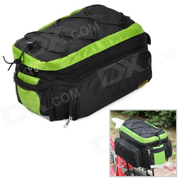 CoolChange 14031 Bicycle Water Resistant Seat Bag / Shoulder Bag - Green + Black