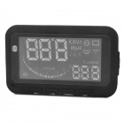 "Car 2.7"" LCD OBD Fuel Consumption / Water Temperature / Speed  / HUD Head Up Display - Black"