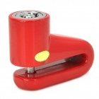 Stainless Steel Anti-Theft Motorcycle Disc Lock - Red