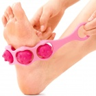 Mini Manual 3-Ball Rolling Slimming Leg Massager - Pink + Deep Pink