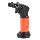 6200 Windproof 1300'C Dual Flame Lockable Butane Jet Lighter Torch w/ Base Holder - Coral + Black