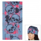 Multifunction Outdoor Sports Seamless Head Scarf - Black + Red