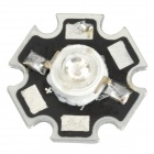 GuangHong JZ 3W 7lm Purple Light LED Module - Black + Silver