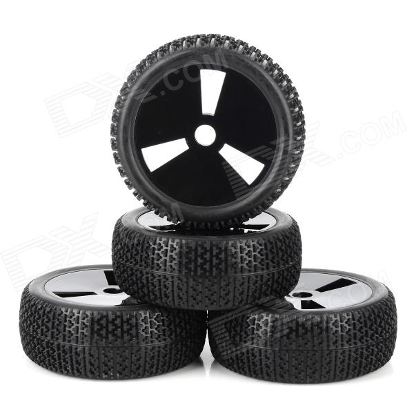 83B-804 Replacement 1/8 Tires for R/C Off-Road Vehicle - Black (4 PCS) 1 10 rubber on road racing car model replacement tire black 4 pcs