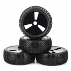 83B-804 Replacement 1/8 Tires for R/C Off-Road Vehicle - Black (4 PCS)